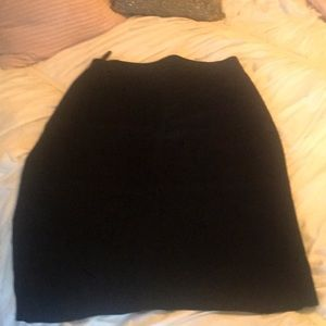 Suede skirt well past the knee black suede